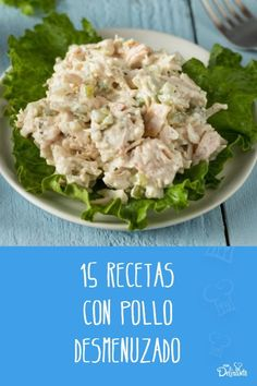 recetas con pollo desmenuzado Cooking 101, Cooking Time, Tacos Dorados, Sponge Cake Recipes, Shredded Chicken, Deli, Tostadas, Potato Salad, Chicken Recipes