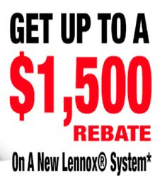 Purchase a qualifying Lennox system and receive a $1500 rebate! Contact us to learn more! #BosworthCompany #Lennox #SummerSavings