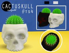 Sims 4 CC's - The Best: Cactus Skull Plant by ts-cc-creator