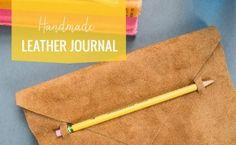 DIY Leather Journal #diy