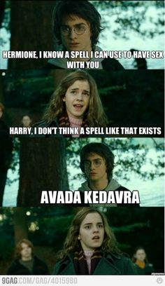 """Hermione, I'm bored We could bake cupcakes. I hate cupcakes - Funny memes that """"GET IT"""" and want you to too. Get the latest funniest memes and keep up what is going on in the meme-o-sphere. La Saga Harry Potter, Harry Potter Jokes, James Potter, Memes Humor, Funny Memes, Funny Videos, Funniest Jokes, Comedy Memes, 9gag Funny"""