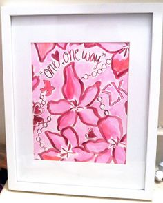 Sigma Kappa Lilly Pulitzer Inspired Sorority by SREdesign on Etsy, $15.00