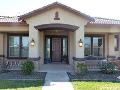 House Plans, House Exterior, House Paint Exterior, Bungalow House Plans, House Colors, Village House Design, House Designs Exterior, Ranch Style Homes, Porch Design