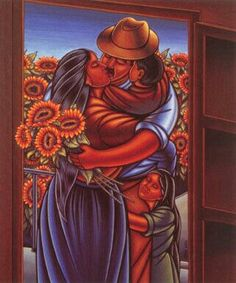 Simon Silva Mexican) I remember seeing this series of paintings as a little girl and adored them. Mexican Artwork, Mexican Paintings, Mexican Folk Art, Vincent Van Gogh, Arte Latina, Hispanic Art, Latino Art, Mexico Art, Chicano Art