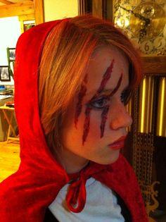 Little Red Riding Hood costume, Halloween costume, kid makeup Halloween