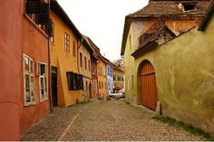 The Historic Hilltop Town of Sighisoara, Romania - one of the best-preserved medieval hilltop towns.