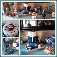 SPORTS THEMED BABY SHOWER All Star Sports Theme Cake and Goodies