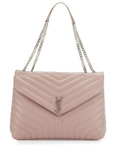 9aefa6d137 Loulou Monogram Y-Quilted XL Slouchy Chain Shoulder Bag by Saint Laurent. Saint  Laurent