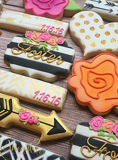 Cookie Momster by Hilary I Kate Spade Inspired Cookies