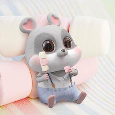 Chibi Wallpaper, Cute Wallpapers, Kawaii, Squirrel, Manga Anime, Chi Bi, Rabbit, Cute Animals, Cartoon