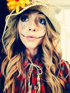 cool scarecrow makeup for Halloween | halloween | Pinterest ...