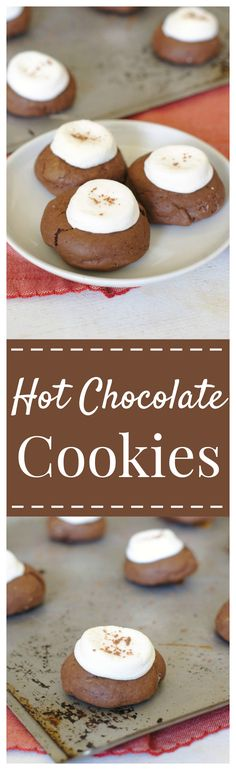 Hot Chocolate Cookies – A fudgy dark chocolate cookie topped with more chocolate and marshmallows! Perfect for a holiday cookie exchange! @rodellevanilla #MadeWithRodelle #choctoberfest #chocolate #cookie #christmas