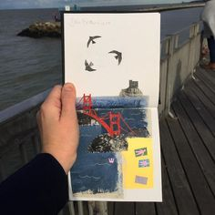 While some people chronicle their traveling adventures with a camera, artist Clover Robin uses a slightly less typical tool: a pair of scissors. Travel Sketchbook, Artist Sketchbook, Leeds College Of Art, Travel Collage, Poesia Visual, Collage Artists, Botanical Drawings, Mixed Media Collage, Paper Cutting