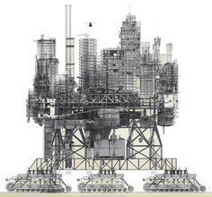 Manuel Dominguez's VLS or 'Very Large Structure', a city that moves on caterpillar tracks to find better environmental conditions.