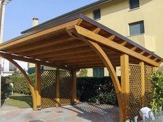 Cantilever Carport, Pergola Carport, Timber Frame Garage, Driveway Paving, Garage Dimensions, Carport Designs, Metal Garages, Garage Addition, Backyard Patio