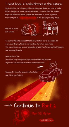10. What it's like to own a Tesla Model S - A cartoonist's review of his magical space car - The Oatmeal