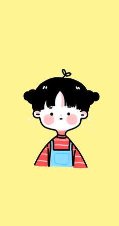Cute Bear Drawings, Cute Little Drawings, Cute Kawaii Drawings, Cool Art Drawings, Cartoon Drawings, Cartoon Art, Cute Pastel Wallpaper, Cute Patterns Wallpaper, Kawaii Wallpaper