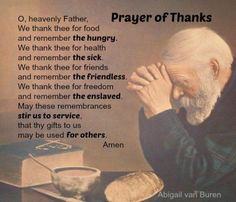 Thanksgiving Prayers and Blessings