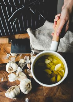 Garlic Confit oil for recipes & the Garlic Confit Is the Magic Secret to Loving Any Vegetable — The Vegetable Butcher Cooking Tips, Cooking Recipes, Cooking Cake, Bread Recipes, Magic Secrets, Duck Confit, French Dishes, Vegetarian Recipes, Healthy Recipes