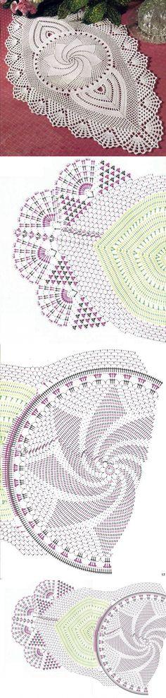 Салфетки крючком со схемами. Большие салфетки крючком | Лаборатория домашнего хозяйства