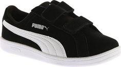 Puma Boys' Smash Fun SD V PS Sneaker Puma Black/Puma White Size 12 M, Boy's