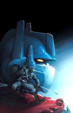 Joe vs Transformers by *JPRart on deviantART - Optimus Prime and Snake Eyes Geeks, Gundam, Arte Ninja, Storm Shadow, Transformers Optimus Prime, Thundercats, Classic Cartoons, Crossover, Anime Manga