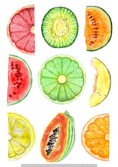 Watercolor Fruits: A beautiful set of 9 juicy hand-painted individual decor stickers with high quality printing. The decals are made of durable interior vinyl, have a nice finish, and remove easy from all surfaces. Are great for indoor use on tiles, walls, furniture and home appliances.  → Decorating Tips: Hand-drawn fruit decal set is a beautiful way to transform a bare wall in the kitchen, dining room or sunroom into the focal point of a room. They also perfect as a border, as a…