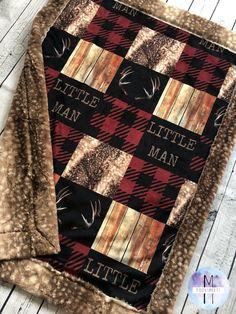 Antler Minky Baby Blanket - Little Man Hunting Blanket - Crib Blanket - Twin Blanket Easy Baby Blanket, Minky Baby Blanket, Baby Boy Rooms, Baby Boy Nurseries, Baby Boys, Carters Baby, Country Babys, Rustic Baby, Rustic Nursery