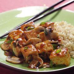 tofu cuit aux champignons