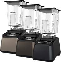 Blendtec Designer 675 Blenders each with Blendtec WildSide+ blending Jars. Offered in the following colour finishes: Champagne, Dark Roast and Charcoal.