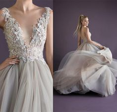Wholesale Evening Dresses - Buy Princess Sexy Beaded Deep V-neck Sleeveless Paolo Sebastian Prom Dress Tulle with Applique Floor Length A-line Backless Long Evening Dresses, $140.19 | DHgate