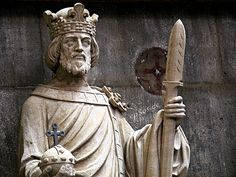 Lifesize Religious King Statue with Spear