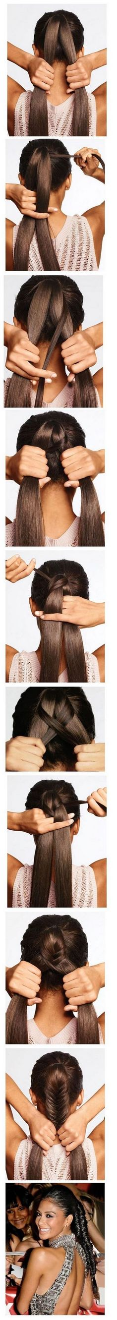 Easy hairstyles for everyday - Fishtail braid ponytail Pretty Hairstyles, Braided Hairstyles, Wedding Hairstyles, Fishtail Braids, Braid Ponytail, Updo, Hair Day, Hair Designs, Hair Looks