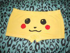 Pokemon PIKACHU sexy boy shorts. $13.00, via Etsy.