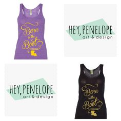 Win a Purple and Gold or Black and Gold Born in the Boot Tank! Ends TOMORROW 7.26 at 5pm! Visit: facebook.com/heypenelopedesign #geauxtigers #LSU #Nola #NewOrleans #Saints #Louisiana