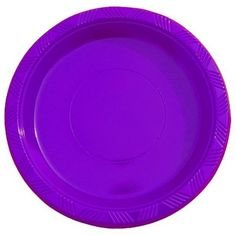 "9"" Purple plastic plates (10)"