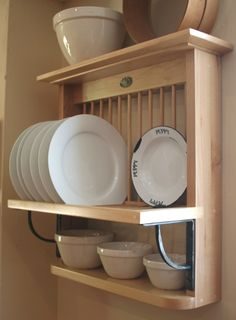 Plate Holders For Wall Delectable Nice Wooden Plate Rack Wall Mounted  Craftmen House  Pinterest Decorating Inspiration