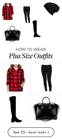"""""""Plus size beauty"""" by emily-rose-kruzona on Polyvore featuring Arizona, M&Co, Office, Givenchy, Free People and plus size clothing"""