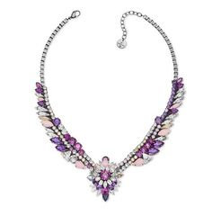 Pink and purple sparkle from Swarovski by Shourouk