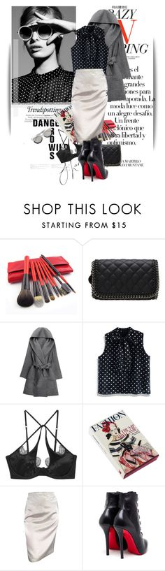 """""""Untitled #1323"""" by maja-k ❤ liked on Polyvore featuring Melissa, daria, Arco, Chicwish, Agent Provocateur, Magma, Lanvin, Chanel, Christian Louboutin and Linda Farrow"""
