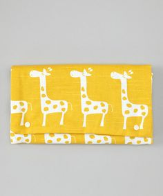 Take a look at this Yellow Giraffe Diaper Clutch by Brownie Gifts on #zulily today!