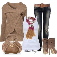 MISSONI open-knit zig-zag scarf in Fall Outfit and love the sweater