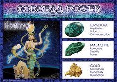 Goddess Power: Hathor - Stones: Turquoise, Malachite and Gold