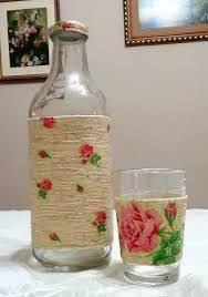 Resultado de imagen para decoupage em garrafa de vinho