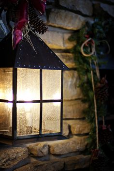 old-fashionedcharm: Christmas Lamp Christmas Lamp, Christmas Lanterns, Primitive Christmas, Country Christmas, Winter Christmas, Christmas Decorations, Victorian Christmas, Christmas Carol, Candle Lanterns