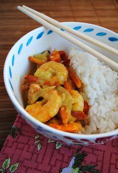 Coconut curry shrimp | you-made-that.com
