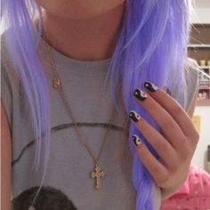 light neon purple hair