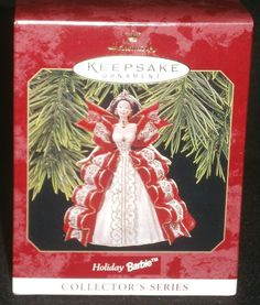 Hallmark Keepsake Christmas Ornament 1997 Holiday Barbie #5 QXI6212 NEW IN BOX by DiscountFigurines on Etsy