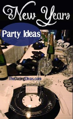 Check out these fabulous decor ideas for your New Year's Eve Party!  www.TheDatingDivas.com #newyear'seve #party #datingdivas