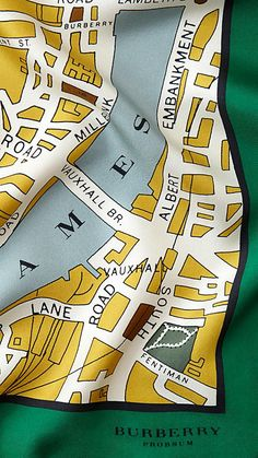 ~London Map Print Silk Square | Burberry | The House of Beccaria